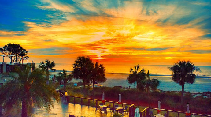 Hilton Head Island - Sunrise over Sea Pines Beach Club