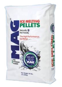50 Lb bag PureMG ice melting pellets