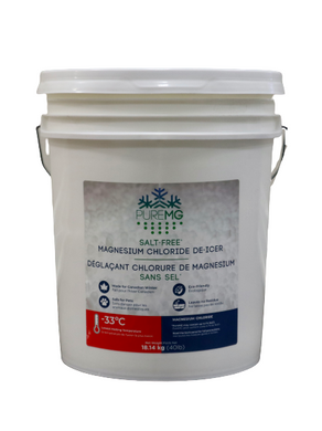 40Lb pail PureMG ice melting pellets