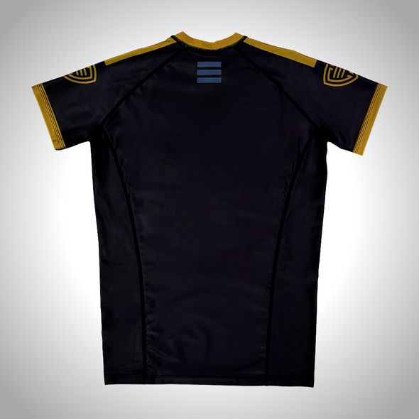 Alchemist Black Gold Rashguard CARBYNE industries NOGI Brazilian Jiu JItsu BJJ Shawn Williams
