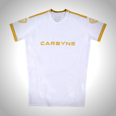 Carbyne Industries Alchemist White Rashguard Brazilian Jiu JItsu BJJ NOGI Shawn Williams