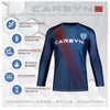 Carbyne Industries BJJ Brazilian Jiu Jitsu NoGi Rashguard Long Sleeve Info Sheet