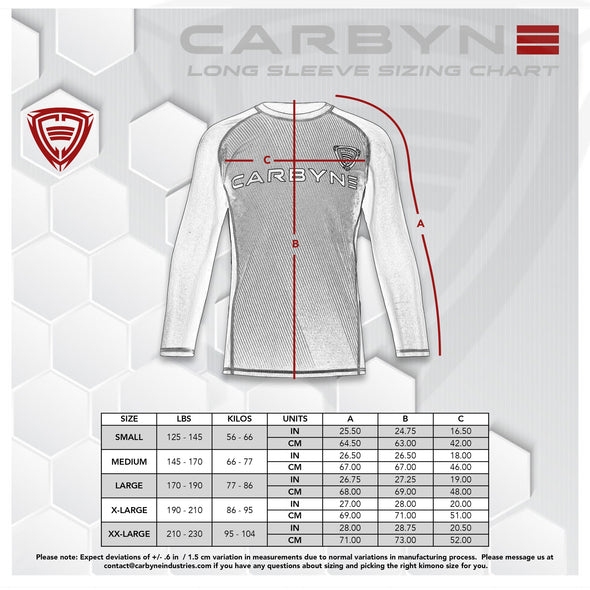 Carbyne Industries BJJ Brazilian Jiu Jitsu NoGi Rashguard Long Sleeve
