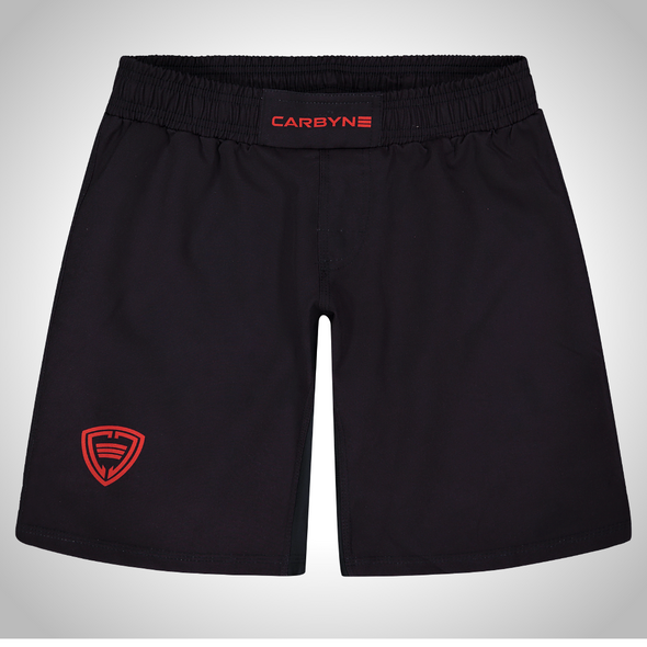 Carbyne Industries Mechanic Black Red Shorts Brazilian Jiu JItsu BJJ NOGI Shawn Williams