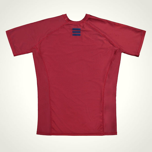 Carbyne Industries BJJ Brazilian Jiu Jitsu NoGi Rashguard Red Short Sleeve