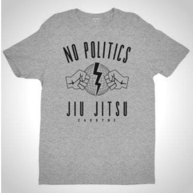 No Politics Jiu Jitsu Heather Grey T-Shirt