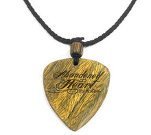 Load image into Gallery viewer, Guitar Pick Necklace Custom Engraved Wood