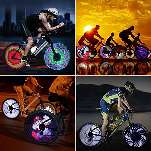 LED Bike Spoke Wheel Light,IPX6 Waterproof,Rechargeable DIY Programmable Outdoor Cycling Bicycle Tire Full Screen Display Lamp