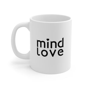 """Mind Love"" Brand White Ceramic Mug"