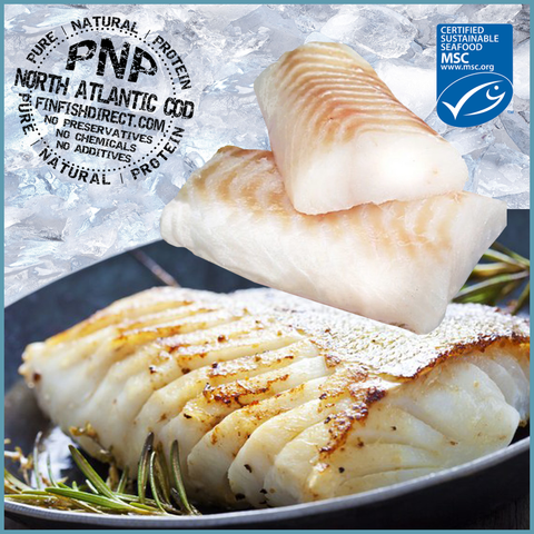 IQF Natural North Atlantic Cod Loins