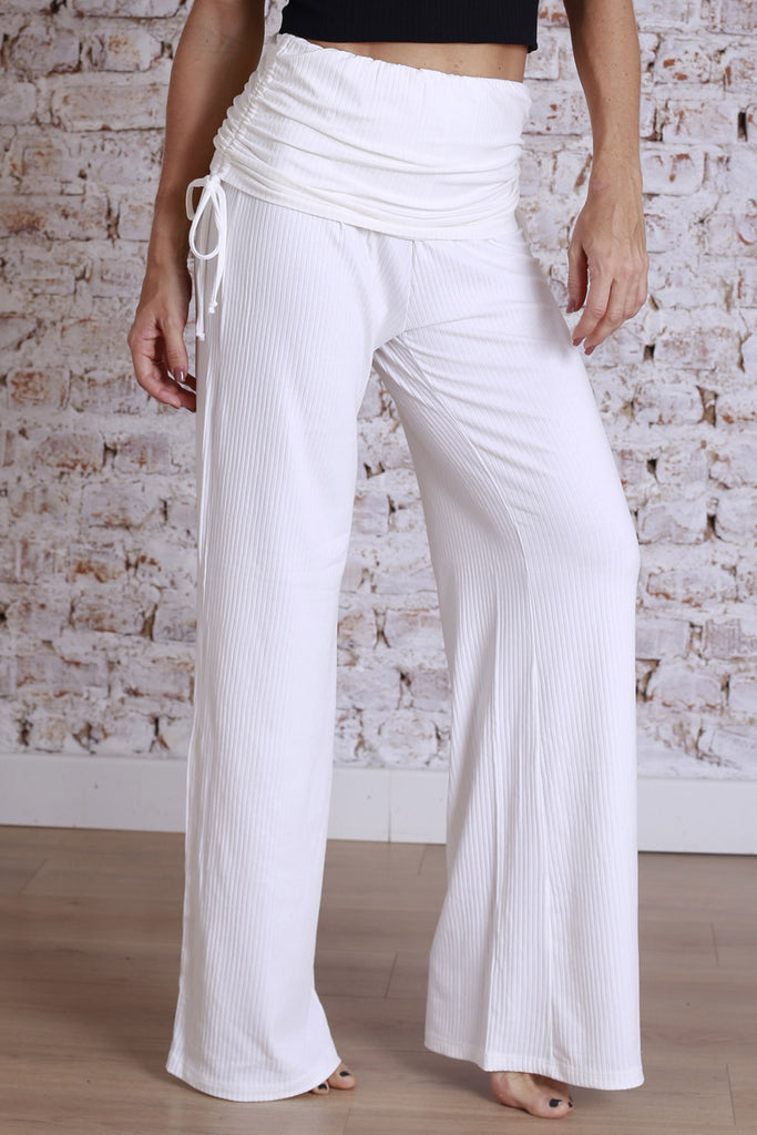 Pantalona Rib Off White