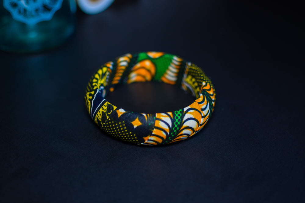 Gaka Ankara bangle bracelet - 2 sizes - 20mm or 30mm thickness
