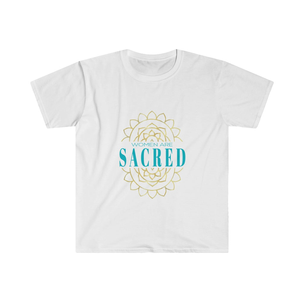Men's 'Women Are Sacred' Fitted Short Sleeve Tee