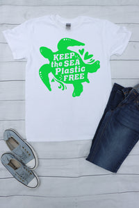 'Keep The Sea Plastic Free' S/S Shirt