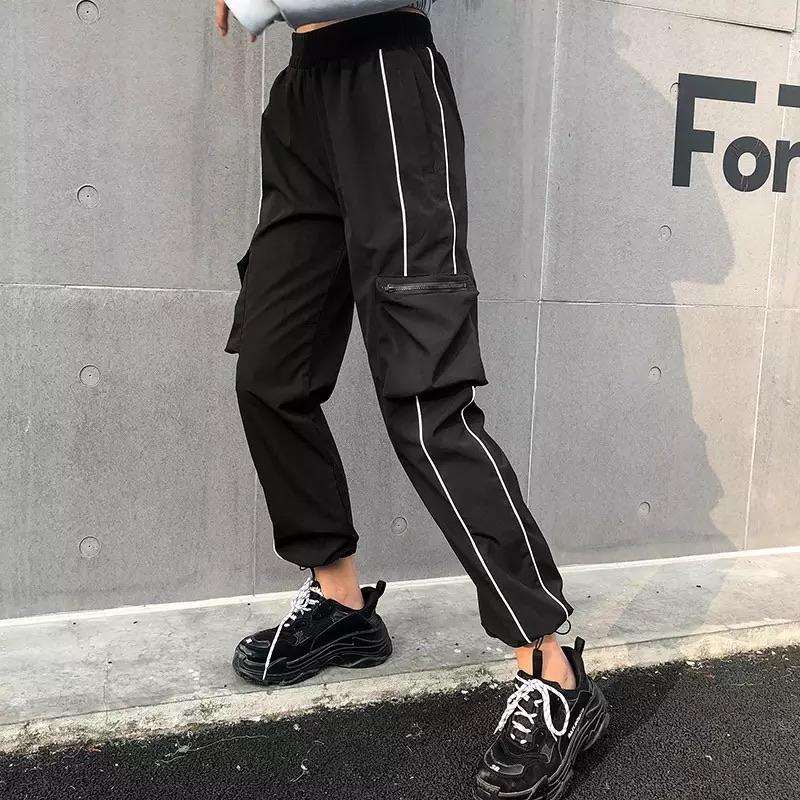 Black Cargo Pocketed Pants 🖤 - Sour Puff Shop