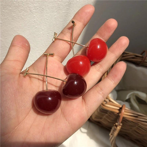 Cherry Drop Earrings 🍒-Sour Puff Shop