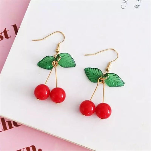 Cherry Earrings 🍒-Sour Puff Shop