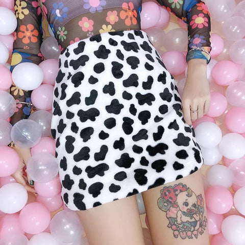 Cow ishh Skirt 🐮💕-Sour Puff Shop