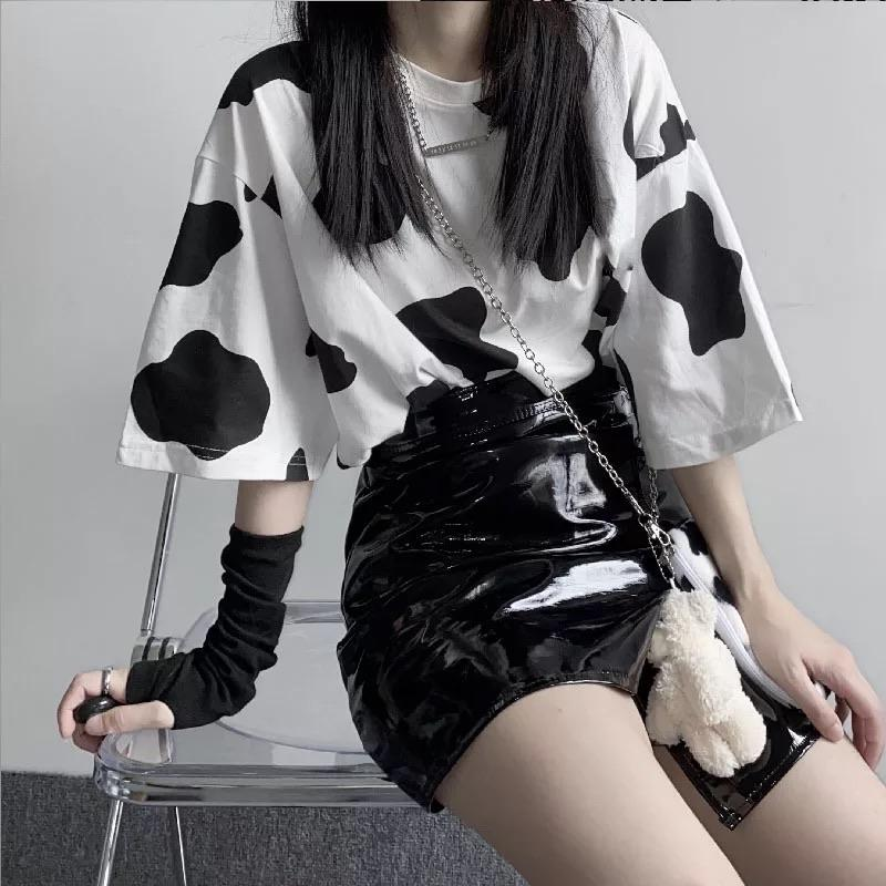 Cow-tastic Sleeved Tee 🐮🖤 - Sour Puff Shop