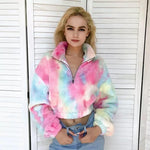 Cropped Pastel Teddy Bear Jacket 🧸💕-Sour Puff Shop