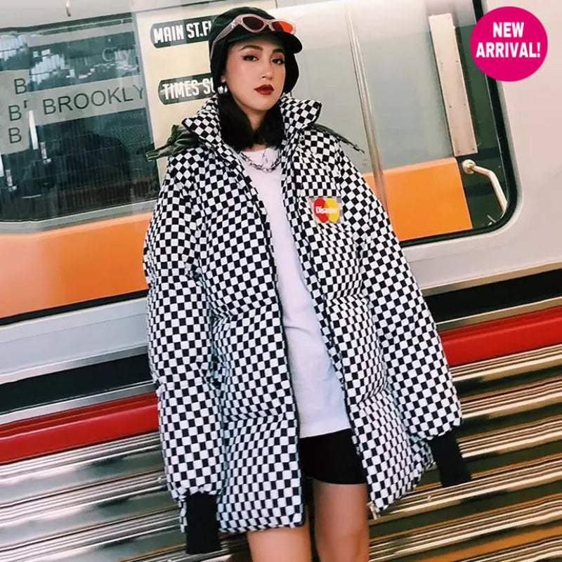Disaster Checkered Puffer Jacket ⚡️ - Sour Puff Shop