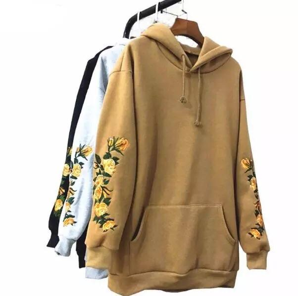 Flower embroidered hoodies 🍁☁️ - Sour Puff Shop