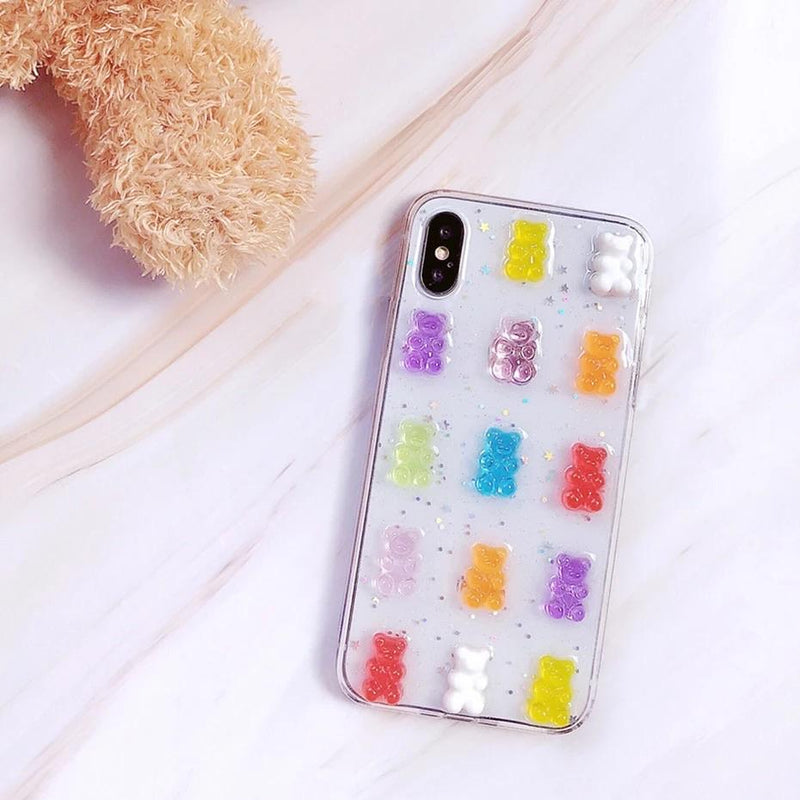 Gummy Bear Clear iPhone Case 🍭💗 - Sour Puff Shop