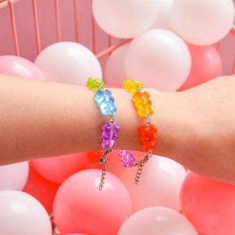 Gummy Bear Rainbow Bracelet 🍭🌈 - Sour Puff Shop