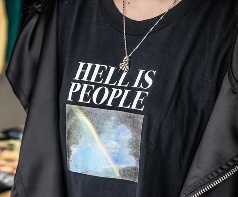 Hell is people T-Shirts 🌈-Sour Puff Shop