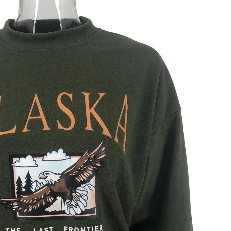 Alaska Hawk Sweatshirt 🦅☁️ - Sour Puff Shop