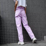 Lilac Cargo Pants 💞🍬-Sour Puff Shop