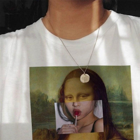 Modern Mona Lisa T-Shirt 🖤-Sour Puff Shop