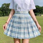 Preppa Pleated Kawaii Skirt ☁️-Sour Puff Shop