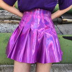 ✨ Purple Holographic High Waisted Skirt ✨-Sour Puff Shop