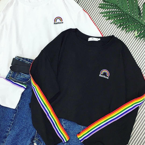 Rainbow sweatshirt 🌈 - Sour Puff Shop