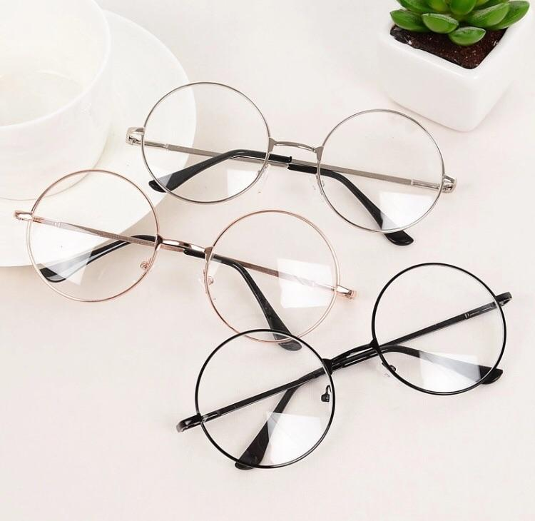 Round Korean style glasses - Sour Puff Shop