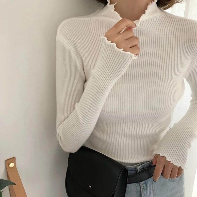 Ruffled Turtle-neck sweatshirt - Sour Puff Shop