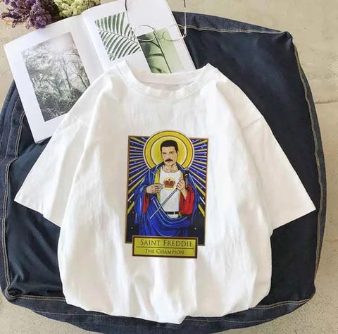 """Saint Freddie, The Champion"" T-Shirt-Sour Puff Shop"