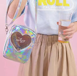 Semi-Transparent Hearty Shoulder bags 💘-Sour Puff Shop