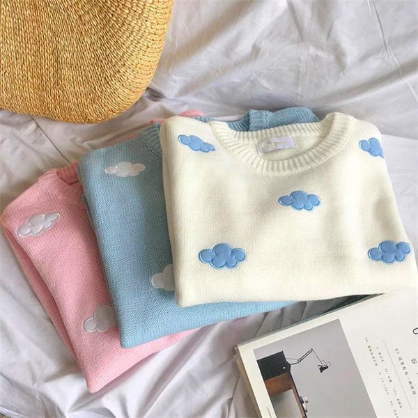 Soft Clouds Sweater ☁️💕 - Sour Puff Shop
