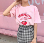 Strawberry Milk T-Shirt 🍓-Sour Puff Shop