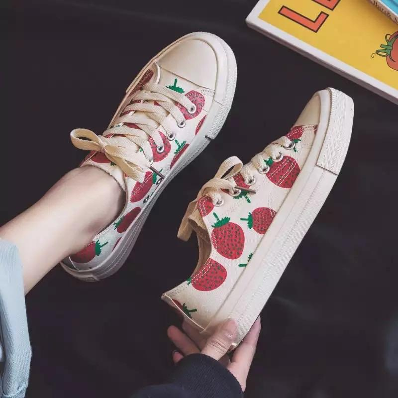 Strawberry Overload Sneakers 🍓☁️ - Sour Puff Shop