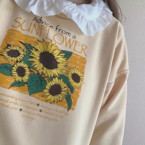 Sunflower Sweatshirt 🌻 - Sour Puff Shop