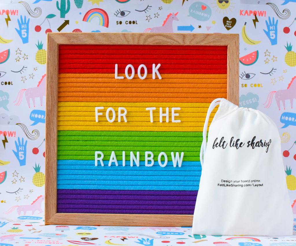 Rainbow Message Board (with 300 extra letters)