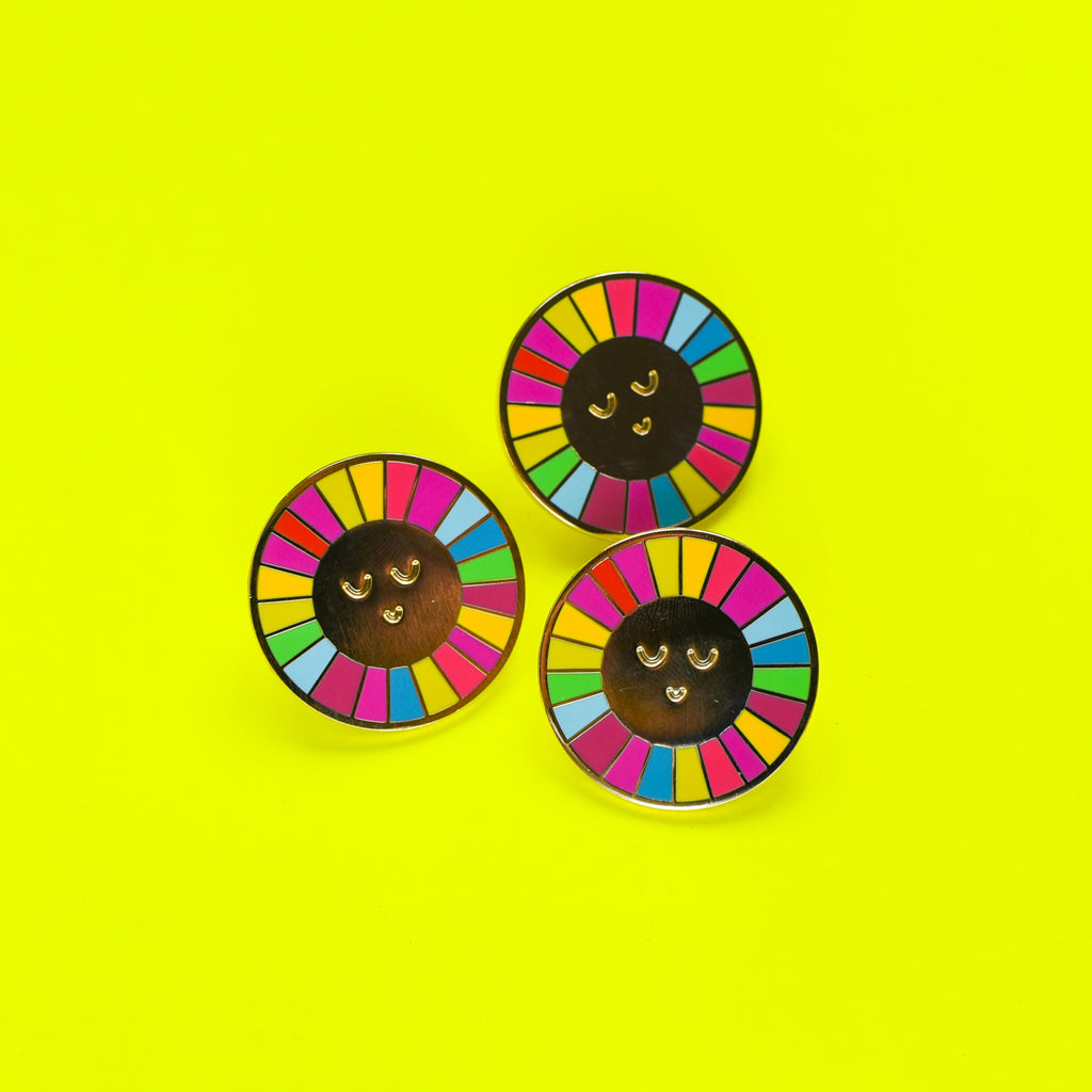 Rainbow Sun Enamel Pin