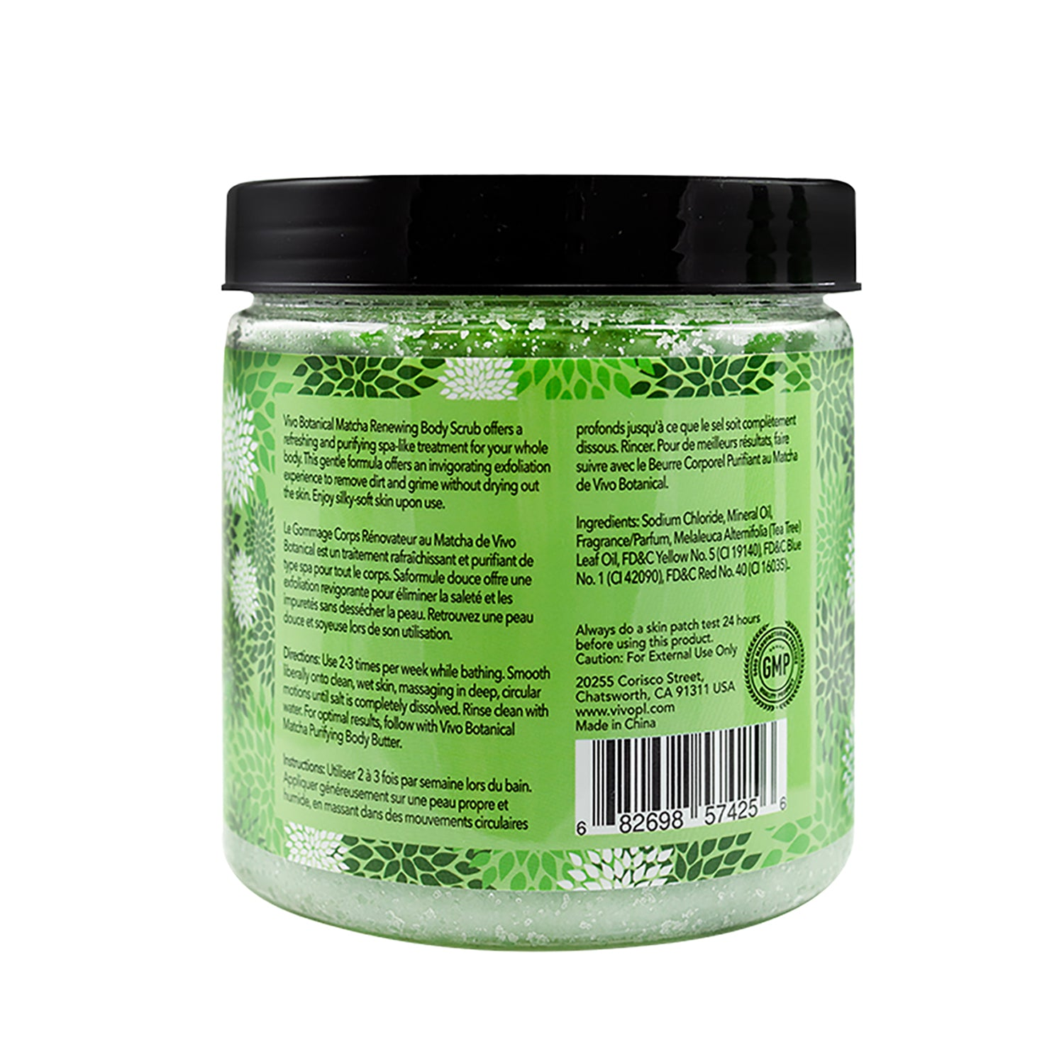 Vivo Per Lei Matcha Body Scrub Green Tea Exfoliating