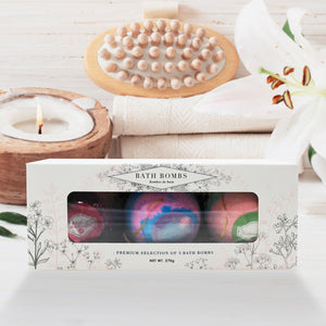beautyfrizz bath bomb gift box bundle