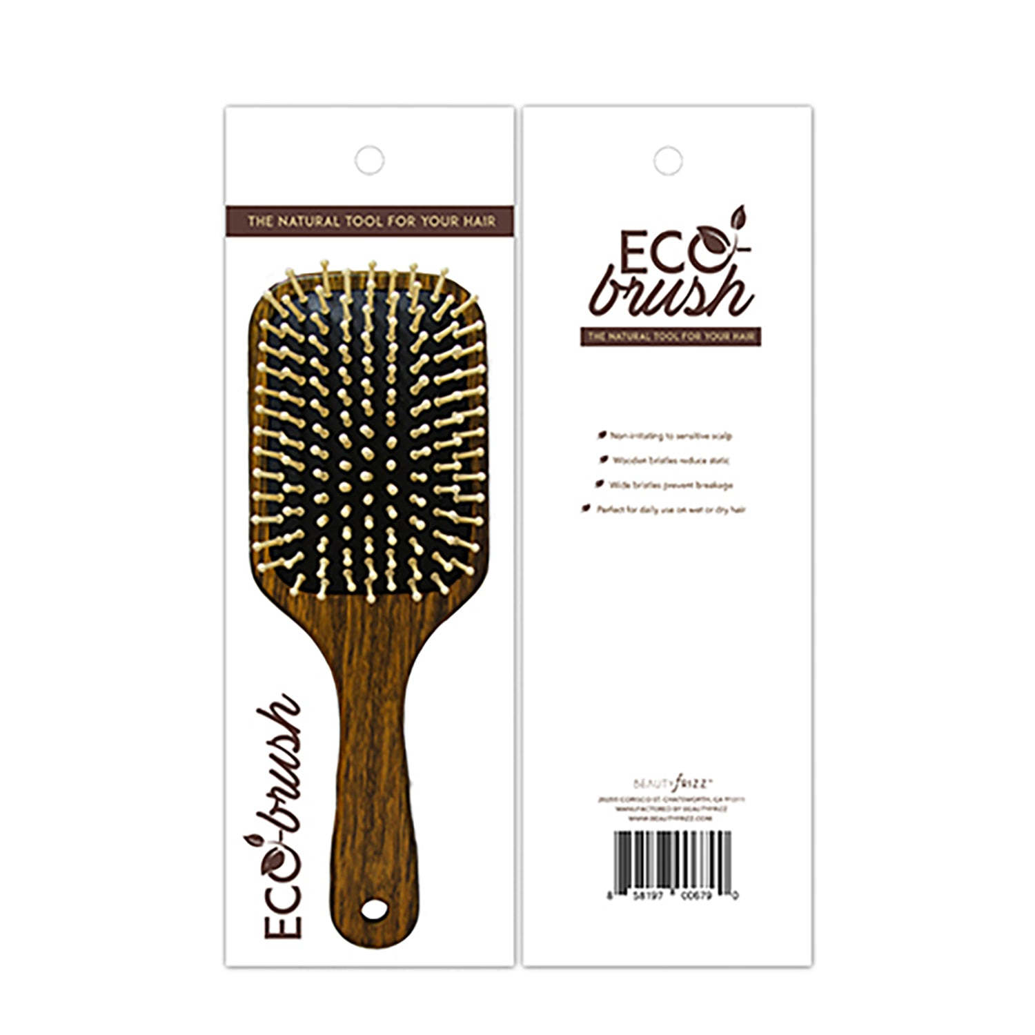 beautyfrizz wooden hair brush