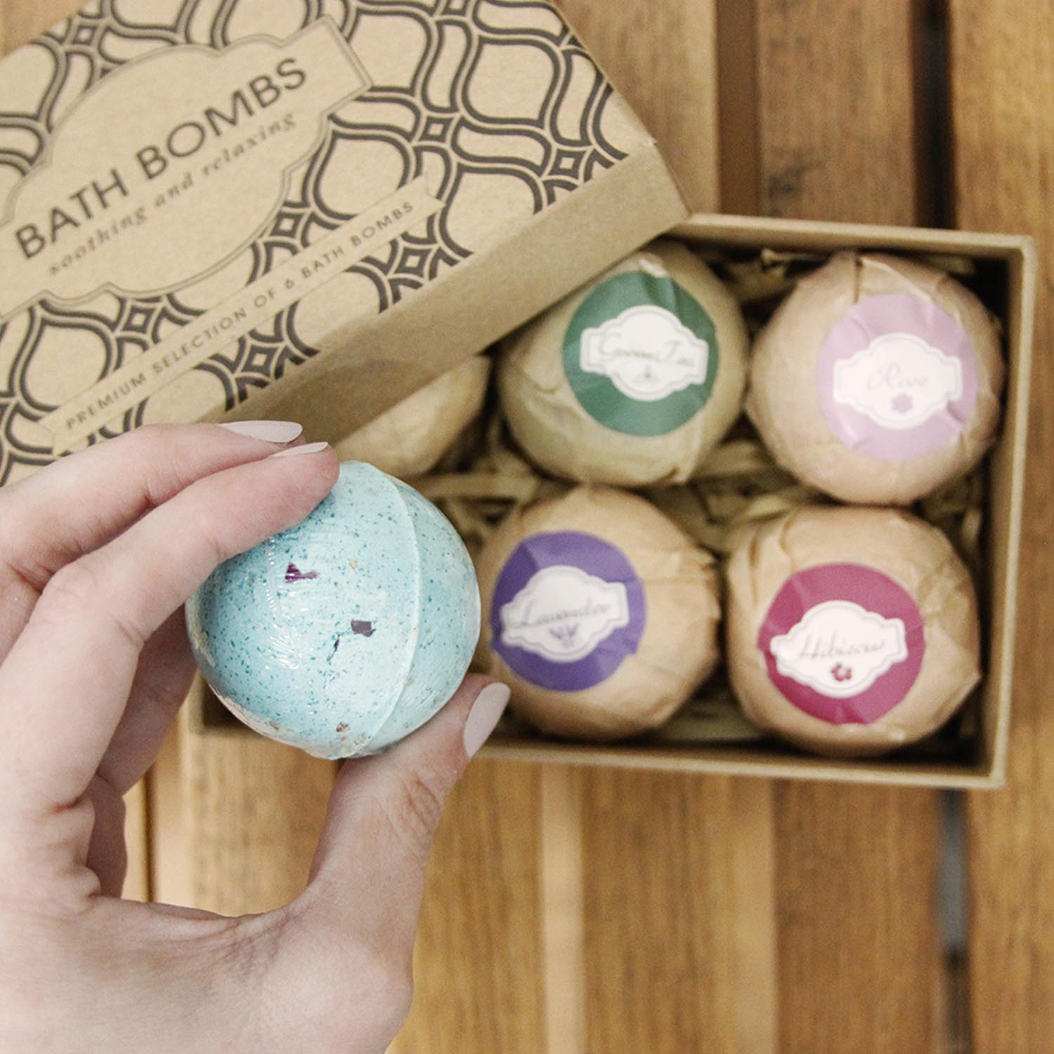 beautyfrizz bath bomb set