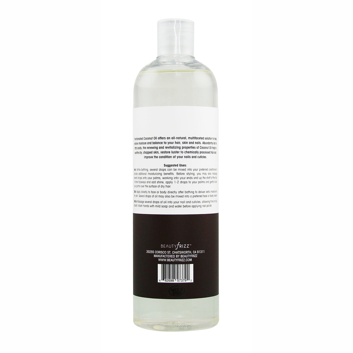 beautyfrizz fractionated oil for skin